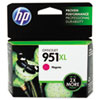 CN047AN140 (HP 951XL) Ink Cartridge, 1500 Page-Yield, Magenta