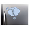 Peel & Stick Dry Erase Decals, Clouds, 10 x 10 Sheets, Blue, 3/Pack