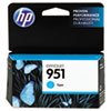 CN050AN140 (HP 951) Ink Cartridge, 700 Page Yield, Cyan