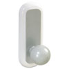 Command Designer Ball Hooks, Plastic, Silver, 2 Hooks with 4 Adhesive Strips per Pack
