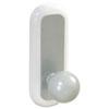Command Designer Ball Hooks, Plastic, Silver, 2 Hooks & 4 Strips/Pack