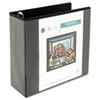 Universal One Comfort Grip Deluxe Plus D-Ring View Binder, 4