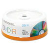 Memorex DVD-R Discs, 4.7GB, 16x, Spindle, Silver, 25/Pack