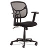 OIF Swivel/Tilt Mesh Task Chair, Height Adjustable T-Bar Arms, Black/Chrome