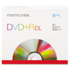 Memorex Dual-Layer DVD+R Discs, 8.5GB, 5/Pack