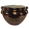 "Fiberglass Floor Pot for Artifical Trees, 16"" Diameter, Mahogany"