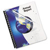 Fellowes Transparent PVC Binding System Covers, 8-3/4