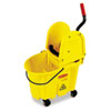 Rubbermaid Commercial Wavebrake 35-Quart Bucket/Wringer Combinations, Yellow