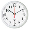 SelfSet Wall Clock, 9-1/4in, White