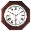 Octagon Mahogany Quartz Clock, 12 in, Mahogany