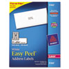 Easy Peel Laser Address Labels, 1 x 2-5/8, White, 3000/Box