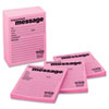 Super Sticky Message Pad, 3-7/8 x 4-7/8, Lined, Pink, 12 50-Sheets Pads/Pack
