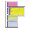 Adams Wirebound Telephone Message Book, Two-Part Carbonless, 200 Forms