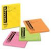 Super Sticky Message Pads, 3-7/8 x 4-7/8, Lined, Neon, 4 50-Sheet Pads/Pack