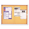 Enclosed Bulletin Board, Cork Over Fiberboard, 72 x 48, Aluminum Frame
