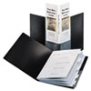 Cardinal SpineVue ShowFile Display Book w/Index, 24 Letter-Size Sleeves, Black
