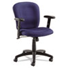 Syze Series Swivel/Tilt Task Chair, Black Frame; Blue Fabric