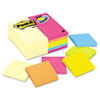 3 x 3, Canary Yellow, Aquatic, Ultra, 24 100-Sheet Pads/Pack