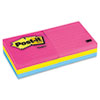 Neon Color Notes, 3 x 3, Lined, Neon Colors, 6 100-Sheet Pads/Pack