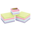 Post-it Notes Cubes, One 360-Sheet 2 x 2, Two 400-Sheet 3 x 3, Pastel, 3 Pack