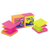 Post-it Pop-up Notes Pop-Up Refills, 3 x 3, Four Alternating Neon Colors, 100/Pad, 12 Pads/Pack