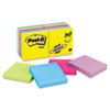 Post-it Notes Ultra Color Notes, 3 x 3, Five Colors, 14 100-Sheet Pads/Pack