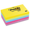 Post-it Notes Ultra Color Notes, 3 x 5, Lined, Five Colors, 5 100-Sheets Pads/Pack