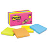 Post-it Notes Original Pads in Neon Colors, 3 x 3, Five Neon Colors, 14 100-Sheet Pads/Pack