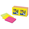 Pop-Up Note Refills, 3 x 3, Five Ultra Colors, 12 100-Sheet Pads/Pack
