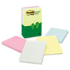 Post-it Greener Notes Recycled Notes, 4 x 6, Lined, Sunwashed Pier, 5 100-Sheet Pads/Pack