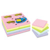 Pastel Notes Value Pack, 3 x 3, Assorted, 24 100-Sheet Pads/Pack