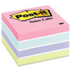 Post-it Notes Cube, 3 x 3, Pastel, 470 Sheets