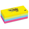Post-it Notes Ultra Color Self-Stick Notes, 1-1/2 x 2, Four Colors, 12 100-Sheet Pads/Pack
