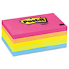 Post-it Notes Original Pads in Neon Colors, 3 x 5, Five Neon Colors, 5 100-Sheet Pads/Pack