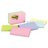 Post-it Notes Original Pads in Pastel Colors, 3 x 5, Five Pastel Colors, 5 100-Sheet Pads/Pack