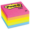 Post-it Notes Original Pads in Neon Colors, 3 x 3, Five Neon Colors, 5 100 Sheet Pads/Pack
