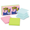 Post-it Pop-up Notes Pop-Up Refills, 3 x 3, Pastel, 6 100-Sheet Pads/Pack