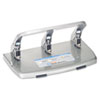 "40-Sheet HC-340 Heavy-Duty Three-Hole Punch, 9/32"" Holes, Silver"