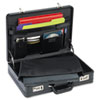 Expandable Laptop Attache, Leather, 18 x 4 x 13, Black