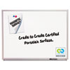 Magnetic Dry-Erase Board, Porcelain, 36 x 24, White, Aluminum Frame