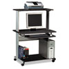Eastwinds Multimedia Workstation, 36¾w x 21¼d x 50h, Anthracite