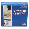 Royal Paper Wood Coffee Stirrers, 5-1/2