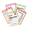 Stitched Shop Ticket Holder, Neon, Assorted 5 Colors, 9 x 12, 25/BX
