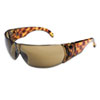 Women's Eyewear, Tortoise Shell Frame, Espresso Anti-Scratch Lens, One Size