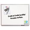 Classic Porcelain Magnetic Whiteboard, 48 x 36, Silver Aluminum Frame