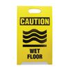Economy Floor Sign, 12 x 14 x 20, Yellow/Black