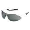 Inertia Safety Glasses, White Frame, Gray Anti-Fog Lens, One Size