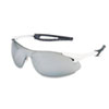 Inertia Safety Glasses, White Frame, Silver Lens, One Size