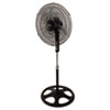 "16"" Remote Control Stand Fan, Three Speed, Black"