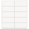 Dry Erase Magnetic Tape Strips, White, 2&quot; x 7/8&quot;, 25/Pack